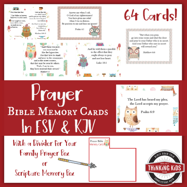 Prayer Bible Memory Verse Cards for Children