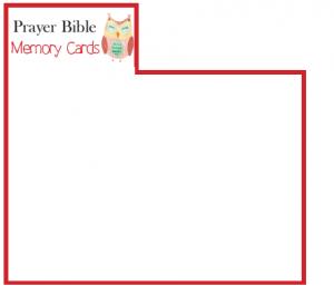 Prayer Bible Memory Verse Cards