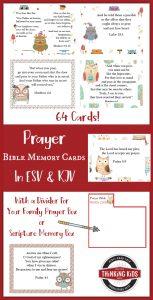 64 Prayer Bible Memory Verse Cards for Children
