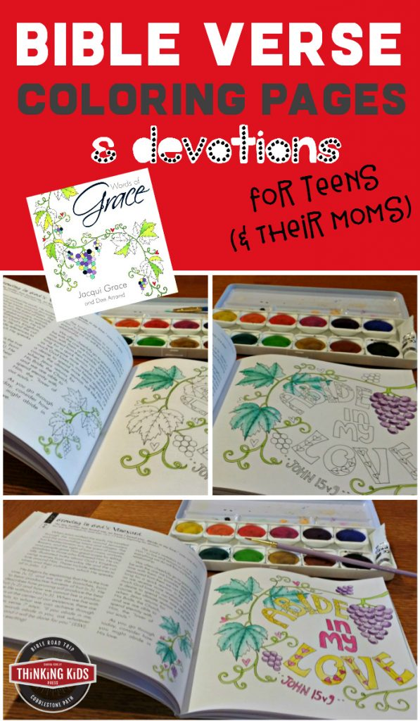 Bible Verse Coloring Pages and Devotions for Teens (and Their Moms)