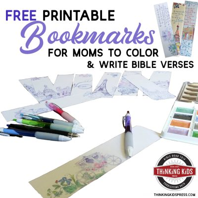 Free Printable Bookmarks to Color (& Write Bible Verses) for Mom