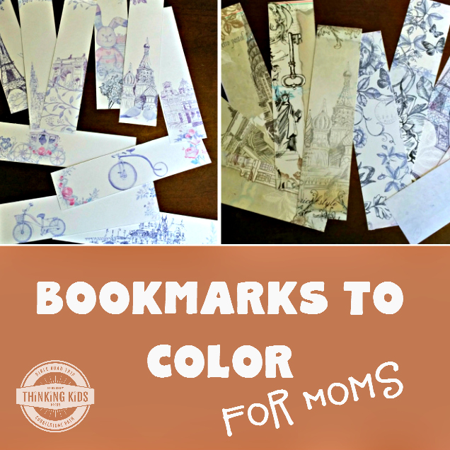 Free Printable Bookmarks for Mom to Color