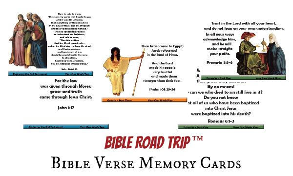 Bible verses for children bible road trip memory verse cards bible road trip bible verse memory cards negle Images
