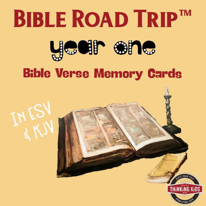 Bible Road Trip Year One Bible Memory Verse Cards