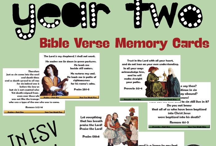 Bible Road Trip Year Two Bible Verse Memory Cards {In ESV and KJV}