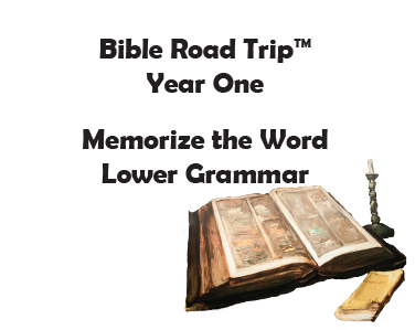 Bible Road Trip™ [Year One] KJV Bible Memory Cards: Lower Grammar (Grades 1-3)