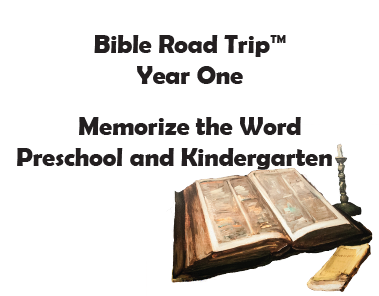 Bible Road Trip™ [Year One] KJV Bible Memory Cards: Preschool and Kindergarten
