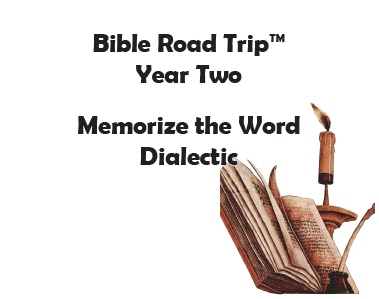 Bible Road Trip™ [Year Two] KJV Bible Memory Cards: Dialectic (Grades 7-9)