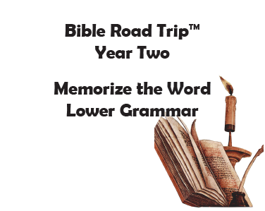 Bible Road Trip™ [Year Two] KJV Bible Memory Cards: Lower Grammar (Grades 1-3)