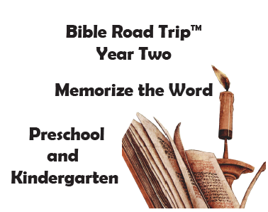 Bible Road Trip™ [Year Two] KJV Bible Memory Cards: Preschool and Kindergarten