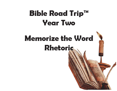Bible Road Trip™ [Year Two] KJV Bible Memory Cards: Rhetoric (Grades 10-12)