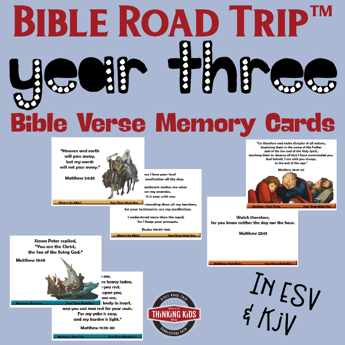 Year Three Bible Road Trip™ Bible Memory Verse Cards