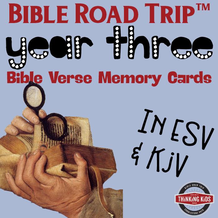 Bible Road Trip™ Year Three Bible Verse Memory Cards
