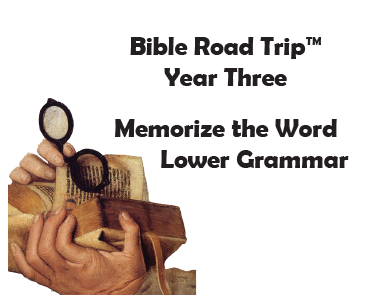 Bible Road Trip™ [Year Three] KJV Bible Memory Cards: Lower Grammar