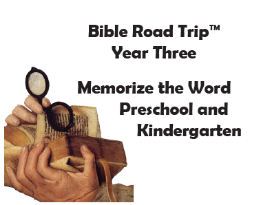 Bible Road Trip™ [Year Three] KJV Bible Memory Cards: Preschool and Kindergarten