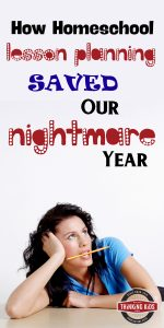 How Homeschool Lesson Planning Saved Our Nightmare Year