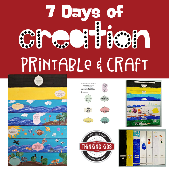 7 Days of Creation Printable & Craft