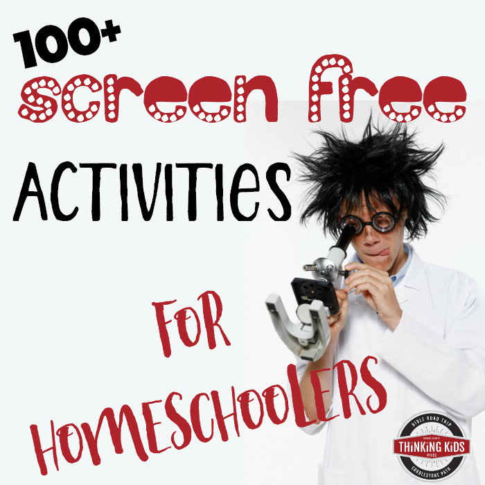100+ Screen Free Activities for Homeschoolers