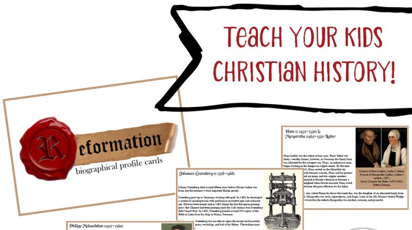 Reformation History for Kids: 13 Biographical Cards