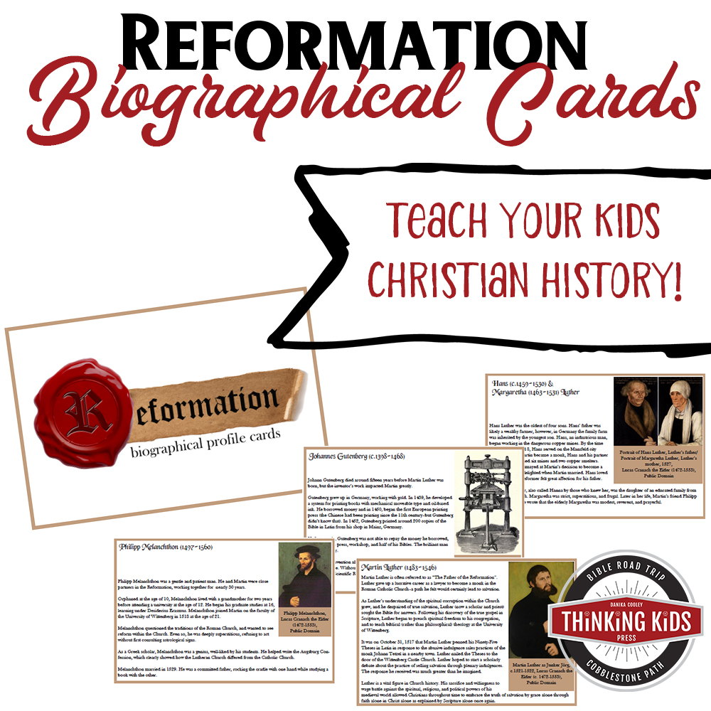 Reformation Biographical Cards - Free October 2017 Only!