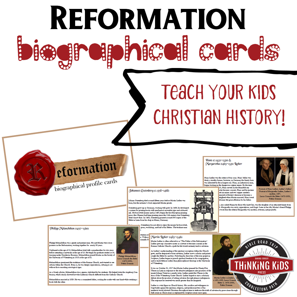 Reformation Biographical Card Set