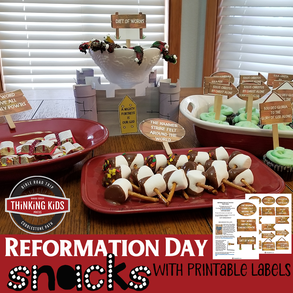 Reformation Day Snacks - Free Printable Labels!