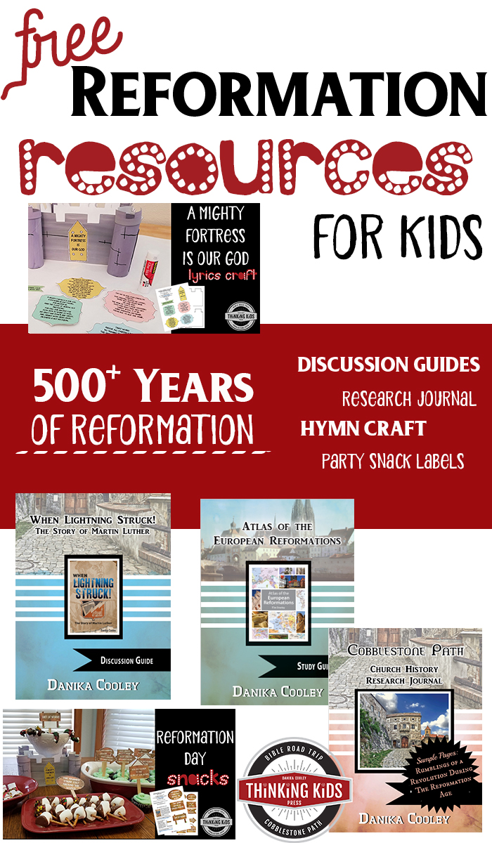 Martin Luther Reformation Resources -- FREE Check out these fun and substantial resources about Martin Luther and the Reformation, free and available for your family to use today!