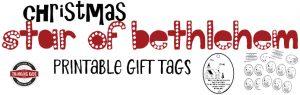 Christmas Star of Bethlehem Printable Gift Tags