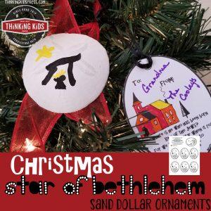 Christmas Star Bethlehem Sand Dollar Ornaments