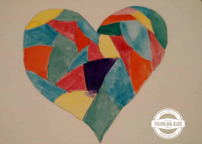 Christmas Stained Glass Art Christmas Craft for Kids