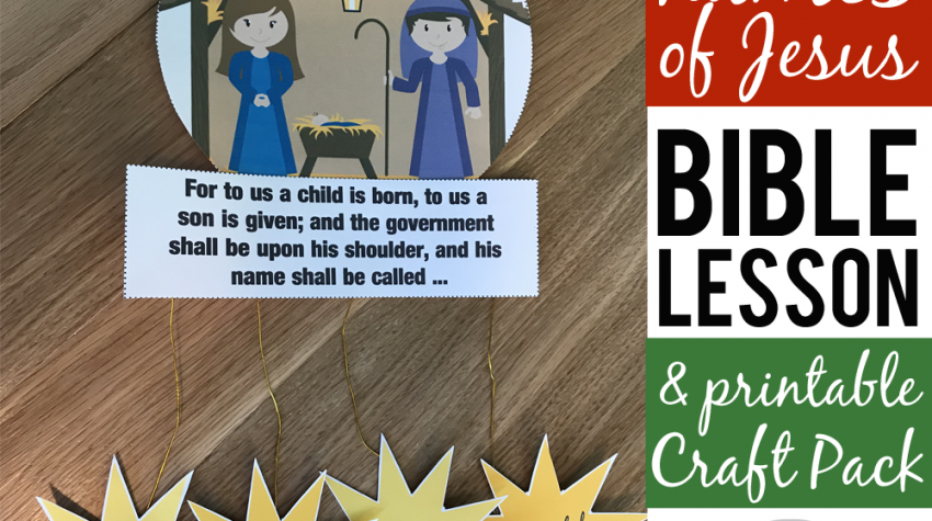 Names of Jesus in the Bible Nativity Craft for Kids