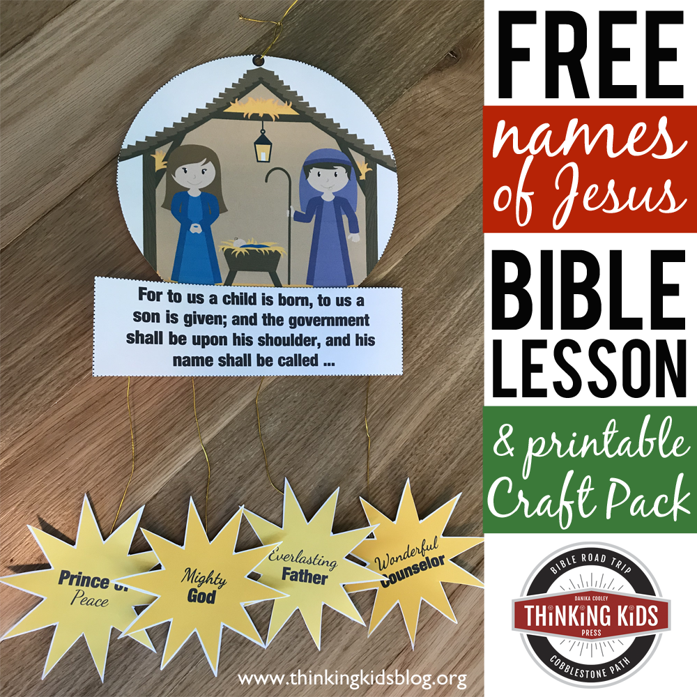 Names of Jesus Bible Lesson and Craft