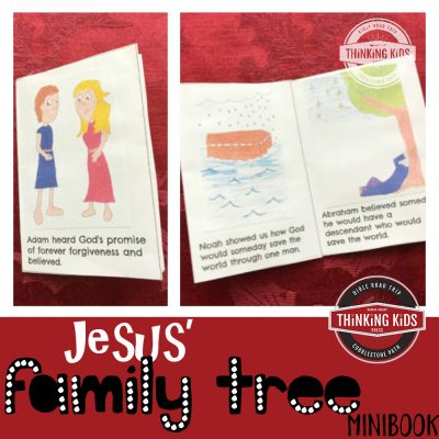 Jesus' Family Tree Minibook (a part of the Christmas Bible Crafts for Kids series at Thinking Kids!)