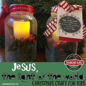 Jesus the Light of the World Christmas Craft for Kids