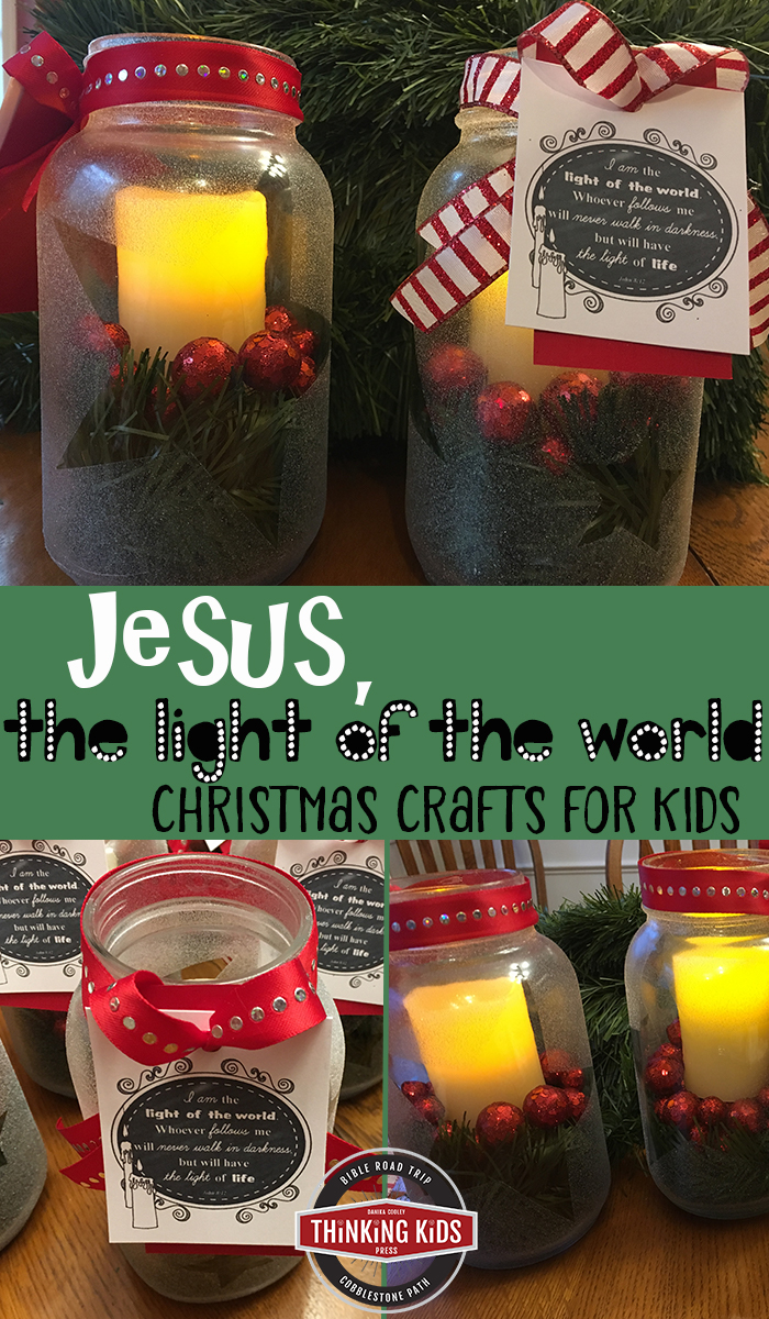 Jesus, the Light of the World Christmas Craft for Kids Teach your kids about Jesus, the light of the world with this fun and lasting Christmas craft for kids. You'll want to make extras to gift!