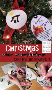 Christmas Star Bethlehem Sand Dollar Ornaments