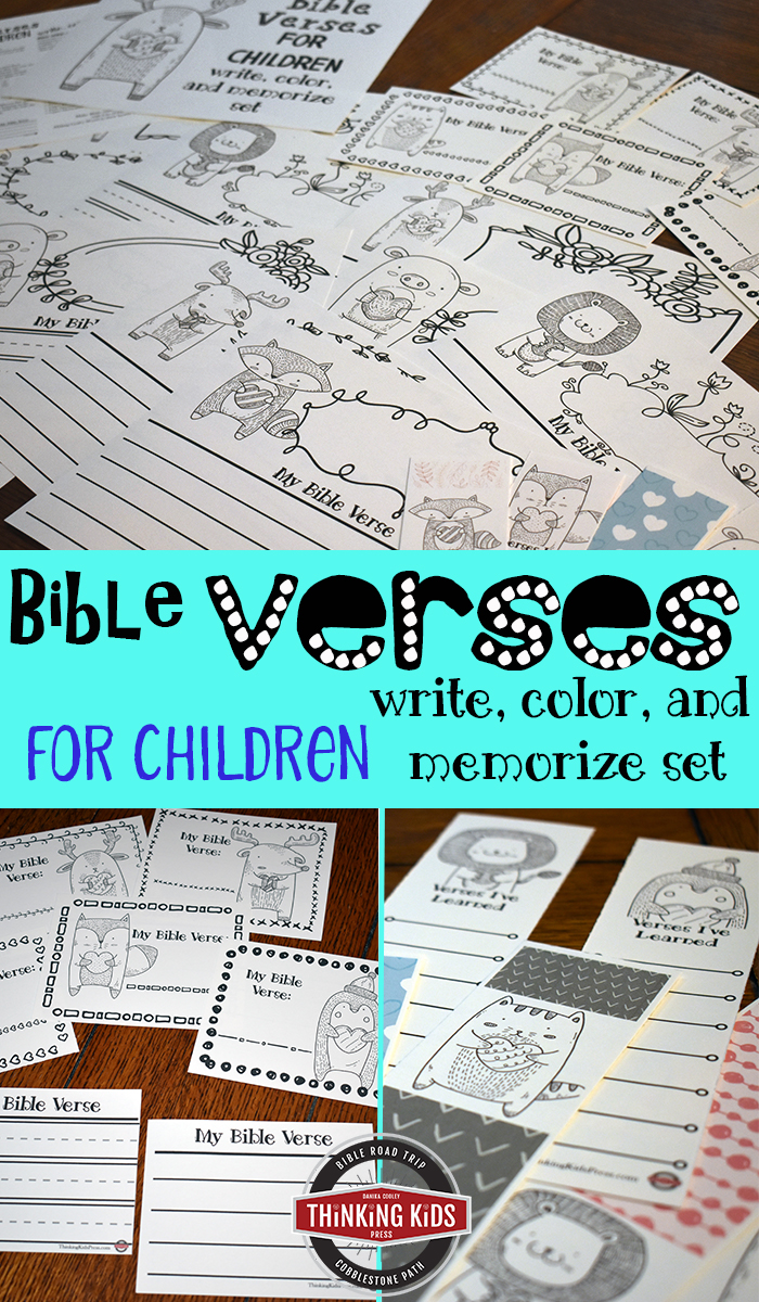 Bible Verses for Children: A Write, Color, and Memorize Set The elementary years are the perfect time for Bible verse memorization--their brains are primed for it.
