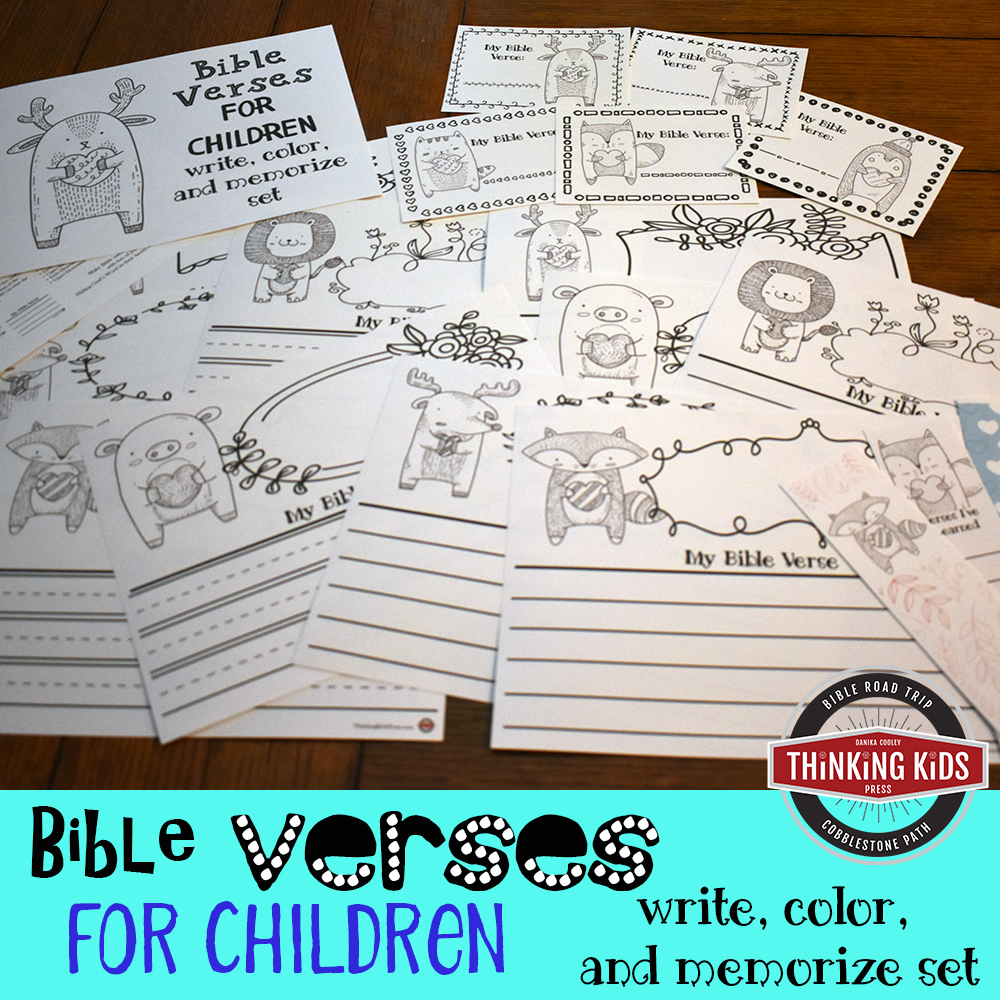 Bible Verses for Children: Write, Color, and Memorize Set