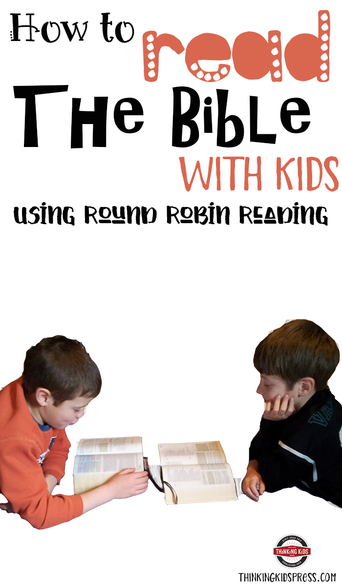 How to Read the Bible with Kids Using Round Robin Reading Reading the Bible together isn't hard... it just takes diligence. This little trick can keep your kids engaged.