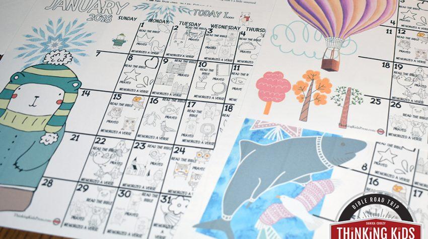 Spiritual Disciplines Calendar for Kids