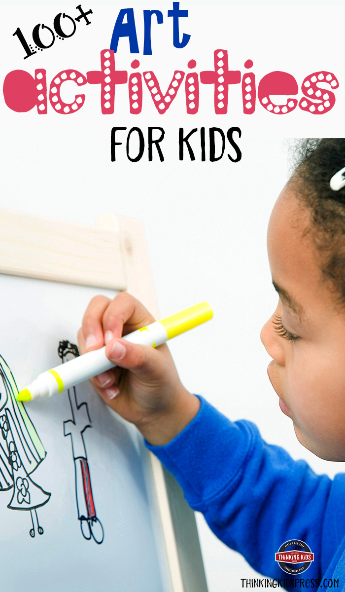 100+ Art Activities for Kids Art activities are a great way for your kids to spend a few moments or a few hours. Check out this list of over 100 art activities for kids.