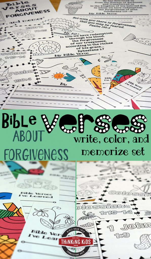 Bible Verses about Forgiveness: Write, Color, and Memorize Set