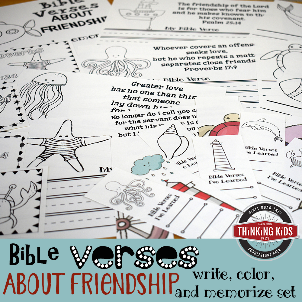 Bible Verses about Friendship: Write, Color, and Memorize Set
