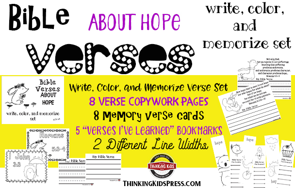 Bible Verses about Hope: Write, Color, and Memorize Set