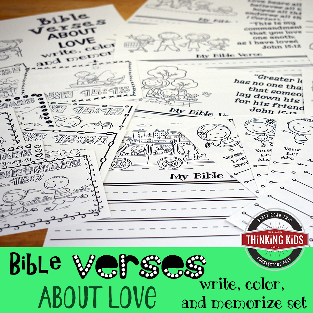 Bible Verses about Love: Write, Color, and Memorize Set