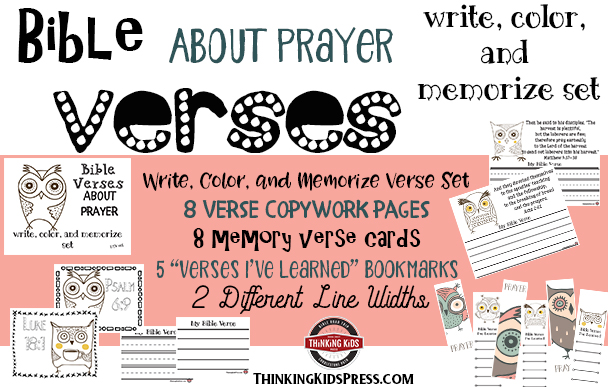 Bible Verses about Prayer: Write, Color, and Memorize Set