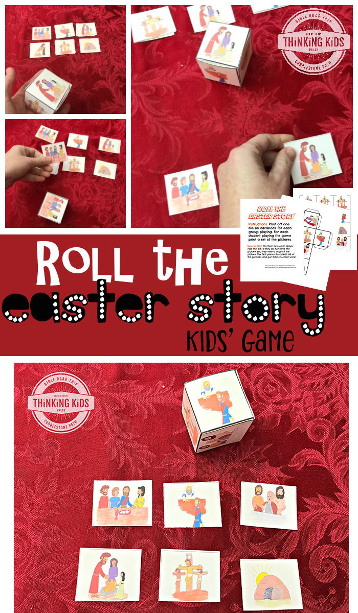 Roll the Easter Story Kids' Game - Print out this fun, free sequencing game to help your kids learn the Easter story!