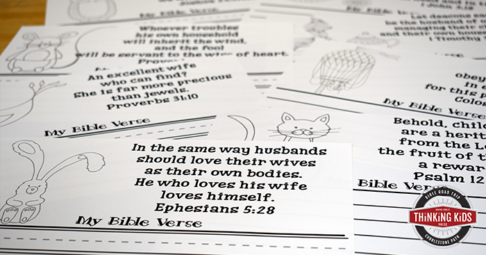Bible Verses About Family: Write, Color, and Memorize Set