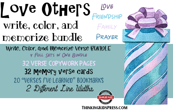 Love Others Bible Verses Bundle: Write, Color, and Memorize Bundle