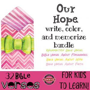 Our Hope Bible Verses Bundle: Write, Color, and Memorize Bundle